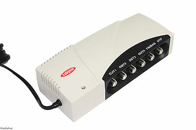 Labgear DA242BP/S F-Aerial Amp With Tetra Filter 4-Way