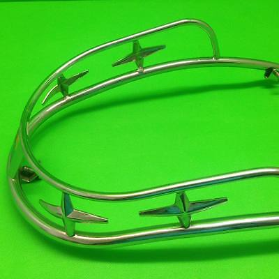 1960's SUPER STAR Type Front Chrome Bumper Red - Vespa GS VBB VNB VNA VNB