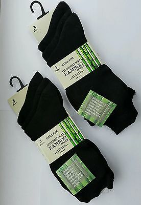Ladies Women Girls Black Bamboo Socks Extra Fine Silk Touch Luxuriously Comfy