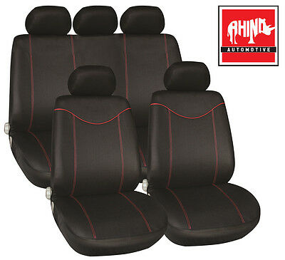 Alfa Romeo Giulietta 10-On Luxury Seat Cover Set Black & Red Piping