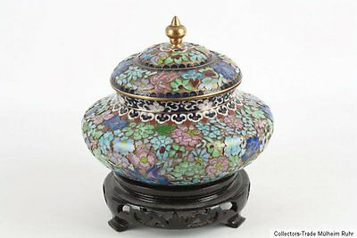 China 20. Jh. Cloisonne Dose - A Chinese Champlevé Enamel Bowl - Cinese Chinois