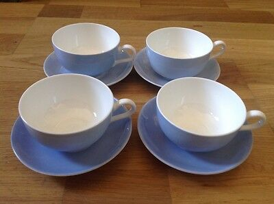 Crescent China George Jones & Sons  4 Small Coffee / Tea Cups & Saucers.