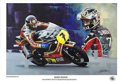 BARRY SHEENE 45x32cm  limited edition print by artist Greg Tillett MOTOGP