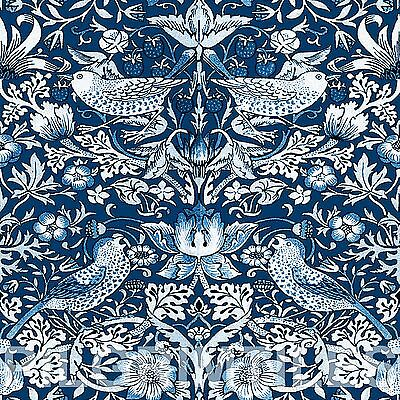 Arts & Crafts William Morris Strawberry Thief Tiles Fireplace Kitchen blue white