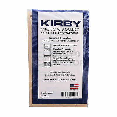 Kirby Generation, G5, G6 Vacuum Cleaners Micron Magic Paper Bags 9 Pack 197394A