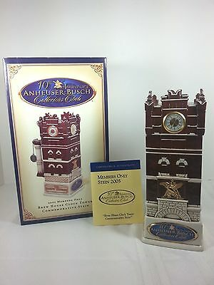 Anheuser Busch Brew House Clock Tower Stein 2005 Collector Club Christmas Gift