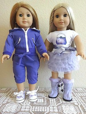 """NEW-DOLL CLOTHES-Skirt/Jogging/Shoes Sets fit 18"""" Doll such as AG Dolls-Lot #254"""