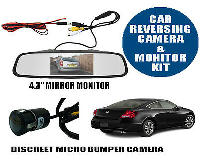 Car Reversing Reverse Camera Kit Micro Parking Camera With LCD Mirror Monitor