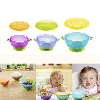 Baby Kid Munchkin Stay Put Suction Bowl Slip-resistant Suction Cup Feeding Bowl