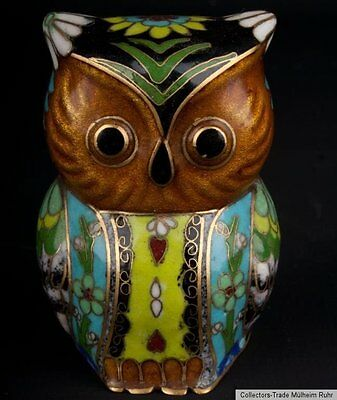 China 20. Jh. A Chinese Cloisonne Enamel Owl - Scultura Cinese - Chinois Chino