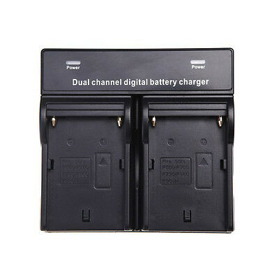 WD Dual Channel Battery Charger for SONY NP-F970 F750 F960 QM91D FM50 FM500H