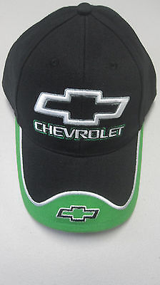 Offical Chevrolet Black/green One Size Embroidered Baseball Hat Cap Adjustable