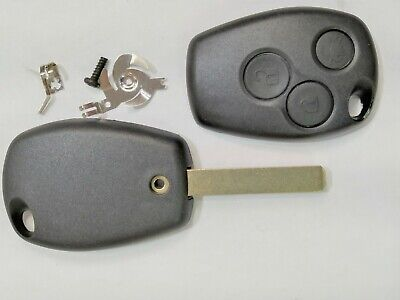Case cover shell key only BUTTONS RENAULT CLIO MEGANE KANGOO MODUS 3 Buttons