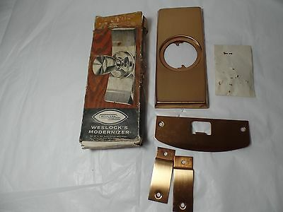 Vintage Western Weslock Modernizer Door Hardware New Old Stock
