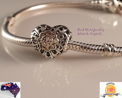 Auth Solid 925 Sterling Silver Charm Bead Fashion Bracelet European Gold plated