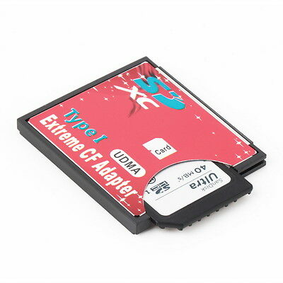 NEW SDHC SDXC To CF Compact Flash Memory Card Adapter Reader Wifi Hot P6
