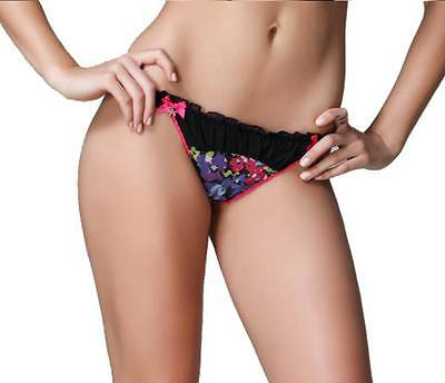 Floral G string Thong Panties Ruffle Lingerie Underwear T-back Plus size 14-20