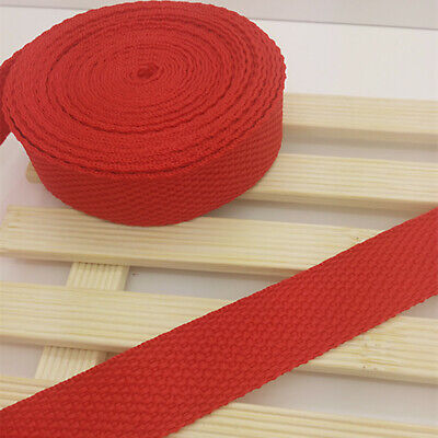 New 10 Yards Length 3/4 Inch (20mm) Width Red Nylon Webbing Strapping