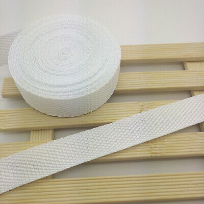 New Hot 10 Yards Length 3/4 Inch (20mm) Width White Nylon Webbing Strapping