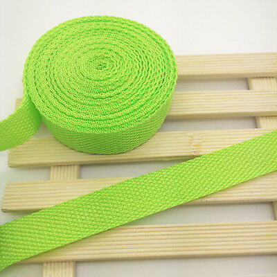 New 10Yards Length 3/4Inch (20mm)Width Fluorescent green Nylon Webbing Strapping
