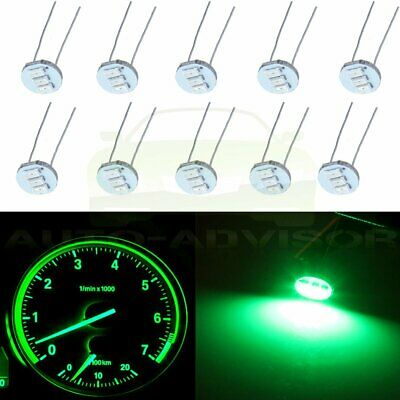 50x 4.7mm Green 3SMD LED Conversion Kit Gauge Cluster Solder Mini Bulb For Chevy