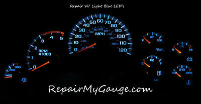 Chevy Silverado Speedometer Instrument Cluster Gauge Repair w/light blue LEDs