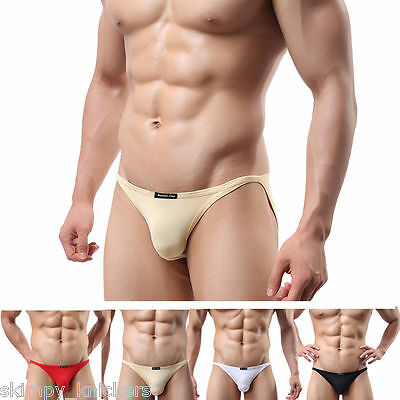 VARIOUS Mens Skimpy Ultra Thin Stretchy Spandex Semi-Transparent Brief Underwear