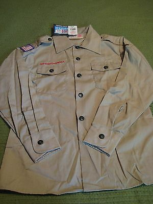 NWT Boy Scout Uniform Official Shirt Long Sleeve w Patches Webelo Leader Eagle