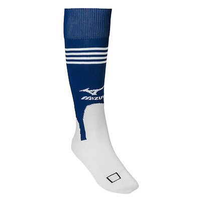 Mizuno Performance Baseball/Softball Stirrup Socks - White/Navy - Medium