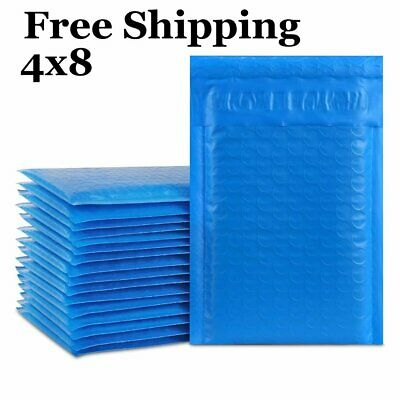 1-500 4x8 #000 ( Blue ) Color Poly Bubble Padded Mailers Fast Shipping