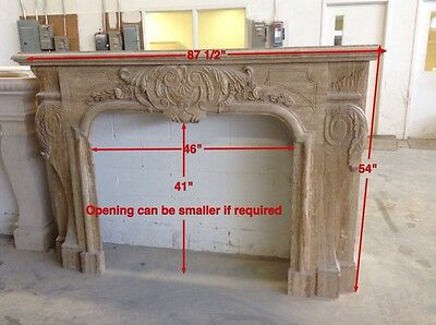 Beautiful Hand Carved Marble Estate Fireplace Mantel