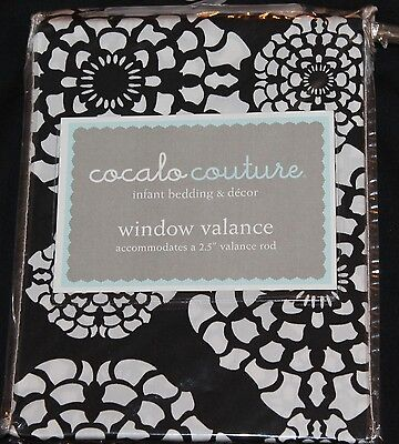 Cocalo Couture Elsa Window Valance 72x18 black white nursery decor new