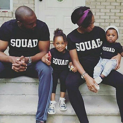 SQUAD MATCHING TSHIRTS Father Mother daughter son Parent Child Friends INSTAGRAM