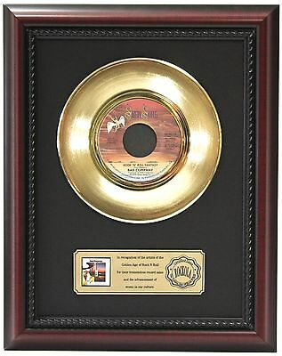 Bad Company - 24k Gold Record Framed In Cherry Wood LTD EDT - Free Shipping USA