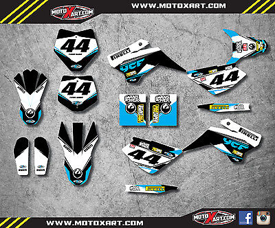 YCF 125 pre 2016 custom graphics kit EURO style / decals / stickers