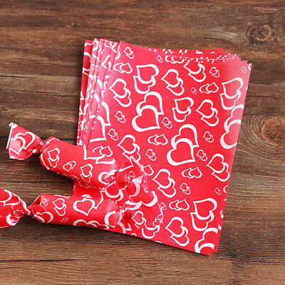 100pcs Heart wax paper handmade Candy Chocolate packaging soap Wrapping paper