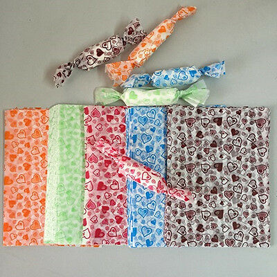 100pcs love wax paper handmade Candy Chocolate packaging soap Wrapping paper