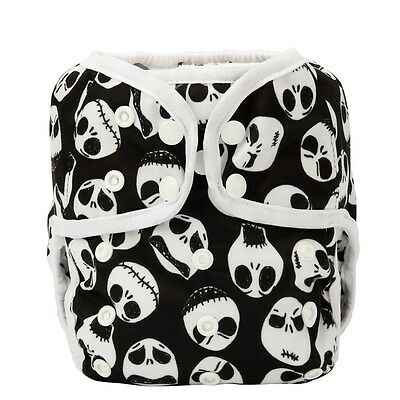 1 Baby Diaper Cover Nappy Cover Double Leg Gussets Reusable One Size Skull Jack