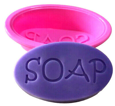 """Candle melts -SOAP- making silicone mould, oval large """"SOAP"""" word"""