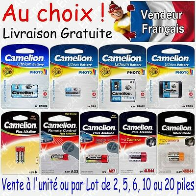 Piles photo Lithium 3V 6V - Au choix : CR123A CR2 CR-P2 2CR5 ( x 1 2 5 ou 10 )