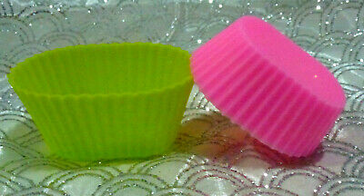 Chocolate jelly melts -SOAP- making silicone mould medium oval moulds, x 3.