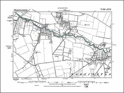 Great Barr in 1886- Repro 68 NE Staffs Old Map of Hamstead Perry Barr