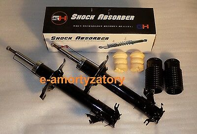 2x  Front Shock Absorbers (Pair) NISSAN X-TRAIL T30 2001-2007 + Protection KIT