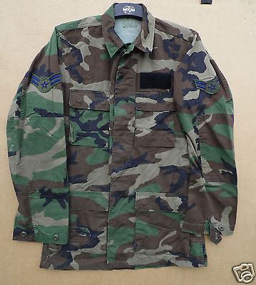 Genuine U.s Army/airforce Woodland Camouflage Combat Coat -Small/extra Long