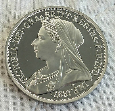 1897 Queen Victoria Pewter Proof Pattern Crown