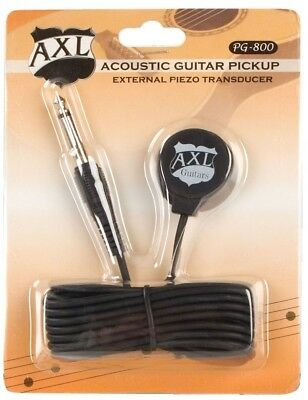 AXL Acoustic Guitar Transducer Pickup with 1/4 Jack and 2.7m Cable. Delivery is