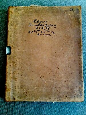 Early 1900 Scrapbook Recipes Formulas Processes Automotive Chemical Antique Book