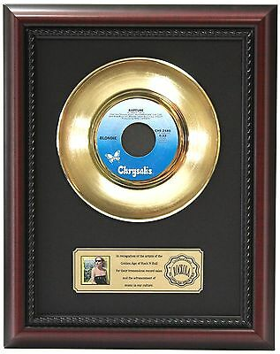 Blondie - 24k Gold Record Framed In Cherry Wood LTD EDT - Free Shipping USA