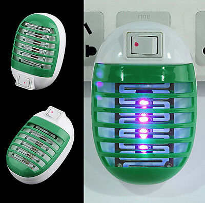 Socket Zapper LED Trap Insect Night Lamp Killer Bug Mosquito Fly