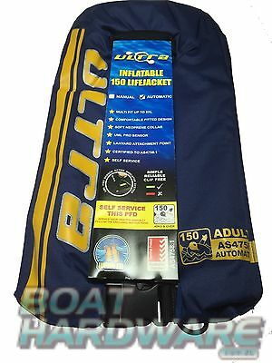 PFD Offshore 150N Life Jacket Adult 40kg+ Automatic Inflatable Fit up to 5XL